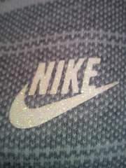 NIKE ナイキ 袖短め ポロシャツ シャツ ボーダー グレー ホワイト Lサイズ