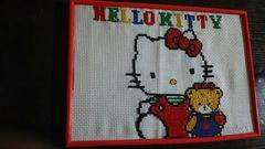 レトロ  キティ  刺繍  HELLO KITTY