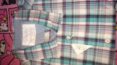 イオン先染めシャツ・6L長袖・緑
