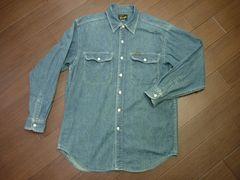 90年代ラングラー日本製デニムシャツM長袖シャツ ワークシャツ