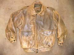 ヴィンテージ感のある羊皮 レザージャケット M