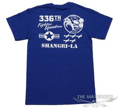 第8空軍「シャングリラ」Tシャツ・青ブルーXL・新品/ミリタリー