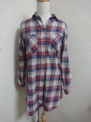 しまむら☆チェック☆長袖☆ロングシャツ