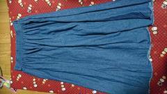 ロングデニムのスカート