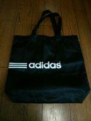 アディダス/adidas/ナイロン袋/ショップ袋/黒/ロゴ