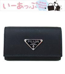 プラダ 6連キーケース 黒 新品同様 PRADA f632
