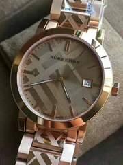 9月限定特価「バーバリーBU9235」レディース時計 Rゴールド