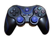 PS3対応 ワイヤレスコントローラー ブラック&ブルーc