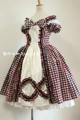 オリジナルドレス 赤青チェック M〜Lサイズ