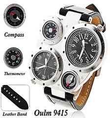 海外ブランドOulm腕時計 多機能 デュアル コンパス 温度計