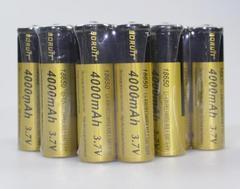 10本set★4000mAh 大容量保護回路付 18650 リチウムイオン電池