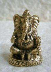 真鍮製 ガネーシャ像15 豆仏像