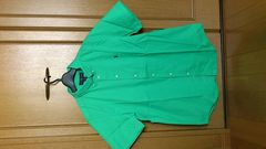 激安82%オフアメカジ、Polo、ラルフローレン、半袖シャツ(新品タグ、緑、メンズM位)