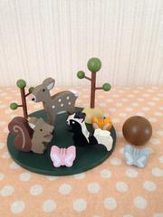 木製 アニマルバランスゲーム 森の動物たち