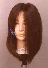 風に強い 人毛  部分カバ- BIGサイズ ブラウン