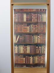 のれん マルチタペ BOOK SHELF ブラウン 85x150 本棚 50021