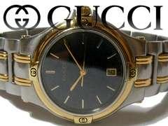 正規【美品】1スタ グッチ/Gucci 9040M 定価13万 メンズ 腕時計