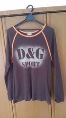 D&G ロングTシャツ イタリア製 焦げ茶色 ドルガバ 即決