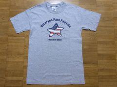 即決!USA古着●鮮やかデザインTシャツ灰!ヴィンテージ・アメカジ・レア