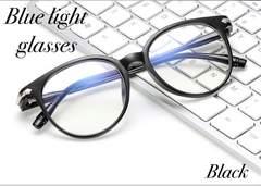 ボストン メガネ ブルーライトカット 伊達眼鏡 PC用メガネ 黒