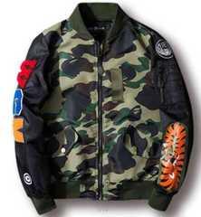 新品WGN MA-1ブレイドジャケット 緑XL