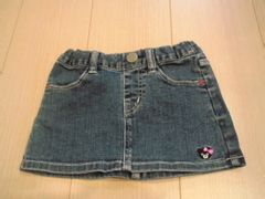 美品ミキハウスダブルBデニムスカートサイズ80