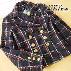 新品 サイズ2 ジャイロホワイト ジャケットコート ネイビー
