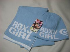 wn138 ROXY GIRL ロキシー ニット帽 マフラー セット 青