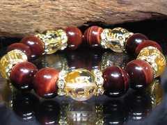 守り本尊十二支梵字水晶レッドタイガーアイ数珠