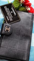 正規品人気のブラックCHANELファスナー付長財布