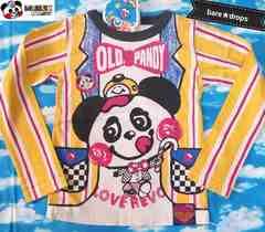 新品【ラブレボLOVEREVOLUTION】120cmOLDパンディジャケット風Tシャツ¥2052