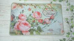 薔薇・ローズの玄関マット Home