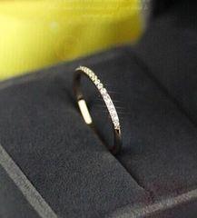 特A品★送料無料★ ダイアモンド 細身リング 婚約指輪 新品