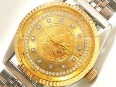 9494/24金のコインダイヤル激レアモデル1/10OZメンズ腕時計格安出品!