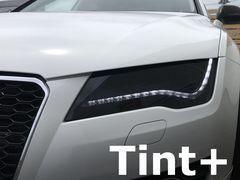 Tint+何度も貼れるアウディA7/S7 4G前期ヘッドライト スモークフィルム