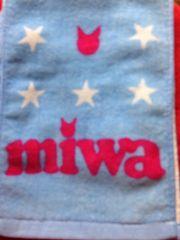 miwa マフラータオル 2015 ONENESS ミワ 青