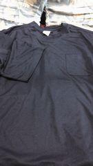 5Lサイズ 紺色のTシャツ(ポケット付き)