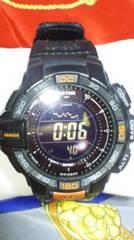 カシオPRO TREK腕時計PRG-270タフソーラープロトレ反転液晶ブラック美品