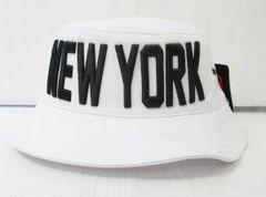 CA2104)PREMIUM HEAD WEAR「NEWYORK」ハット 白