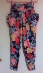 美品【GALSTAR】花柄パンツ・size L