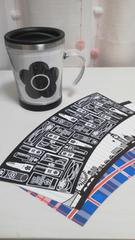 MARY QUANT/マリークワントデザインシート�C種類ノベルティマグカップ専用