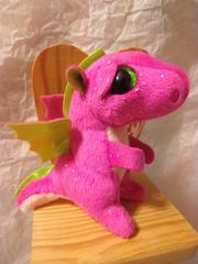 ■Ty BEANIE BOOS■ピンクドラゴンDarla★キークリップ■