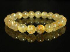 タイチンルチル8ミリ数珠ブレスレット!!極太金針入り天然石