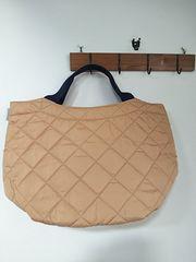 ROOTOTE/内側オレンジがかわいいキルティングバッグ/美品