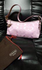 投げ売り本物COACH超可愛いミニハンドバッグ中古美品