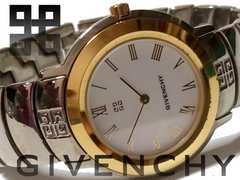良品 1スタ★ジバンシィ/Givenchy【スイス製】希少 メンズ腕時計