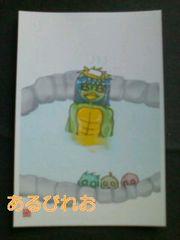 ◆自作イラスト/ポストカード/河童/温泉