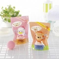 バスボム2個セット★ローズの香り★ANIMAL★ピンク/入浴化粧品