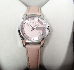 500スタ★本物正規GUCCIグッチ 126.5 レディース腕時計 革
