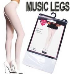 A6A)LA発MusicLegsオペークタイツ白ホワイトダンスダンサー衣装B系セレブバレエ